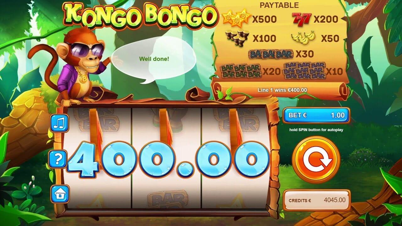Kongo Bongo Slot Gameplay