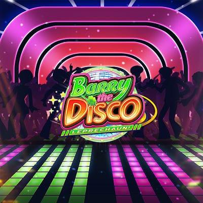 Barry the Disco Leprechaun slot logo