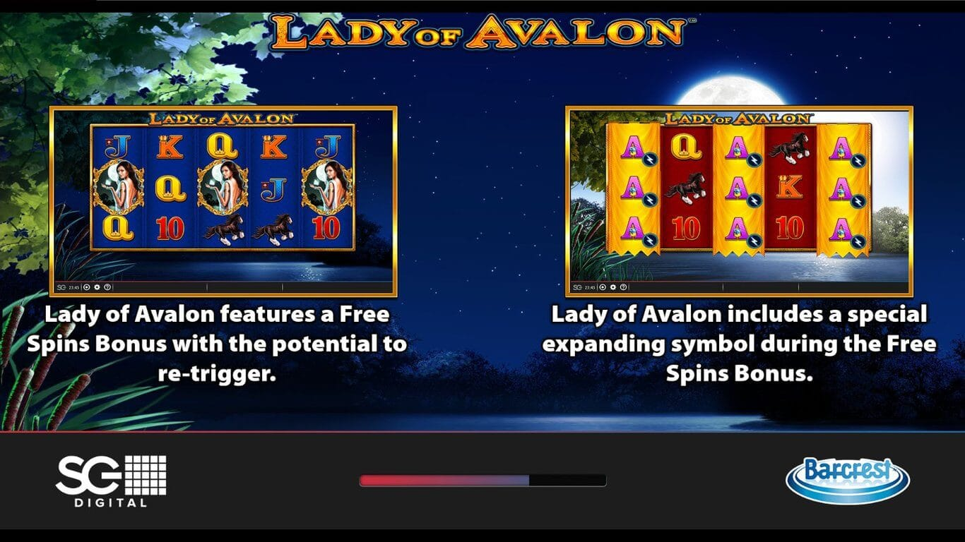Lady of Avalon Slot Bonus