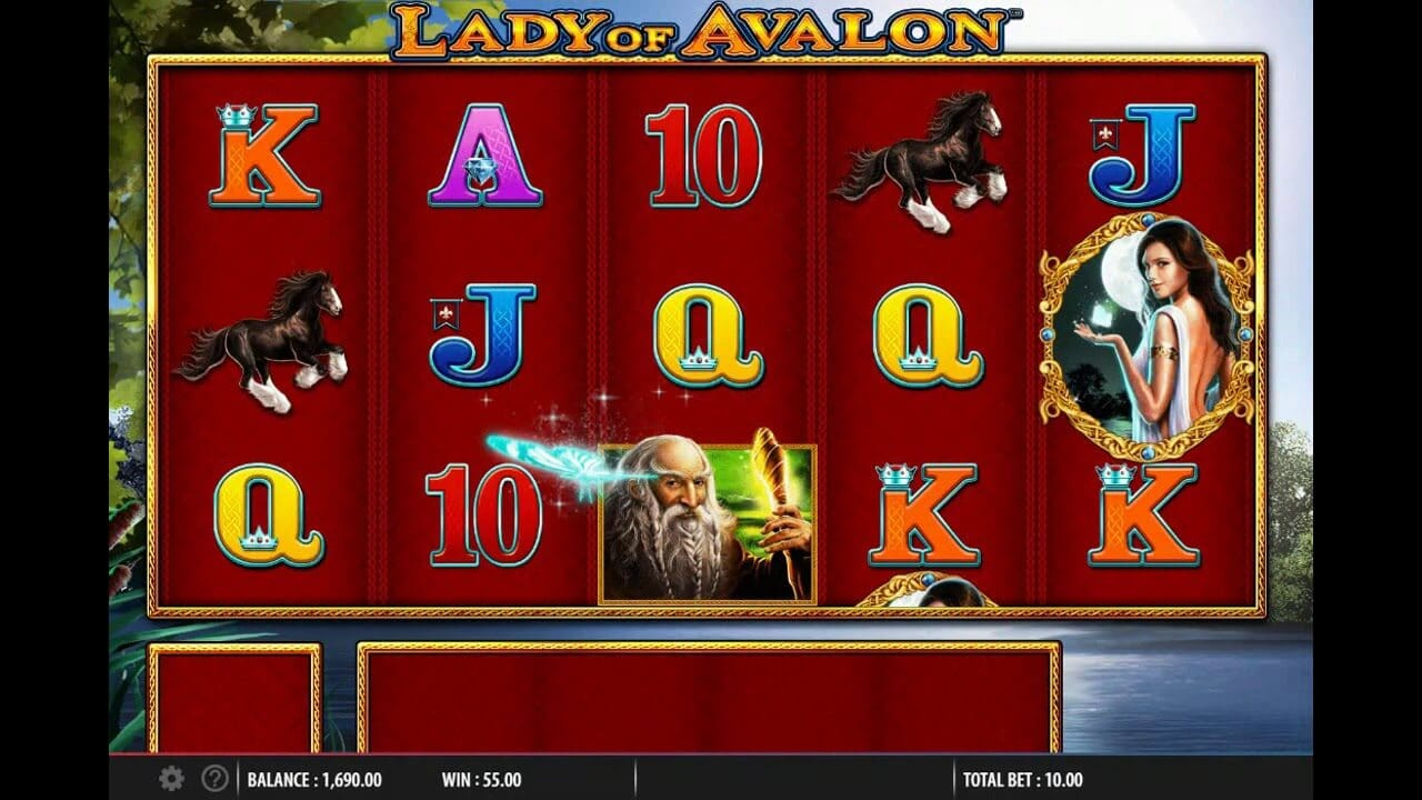 Lady of Avalon Slot Gameplay