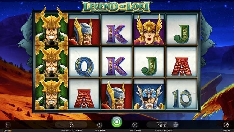 Legend of Loki Slot Gameplay
