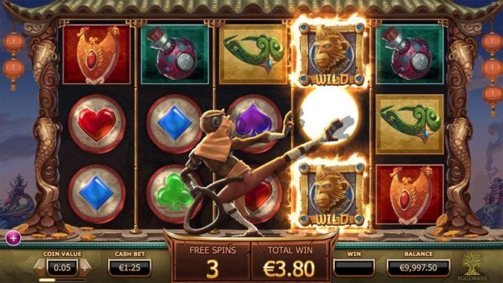 Legend of the Golden Monkey Slot Gameplay