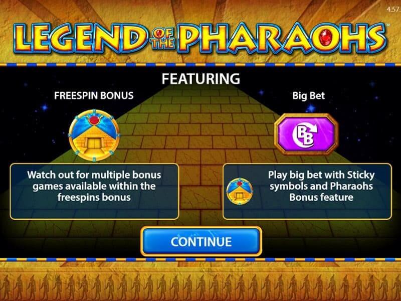 Legend of the Pharaohs Bonus