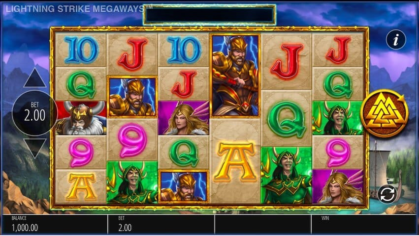 Lightning Strike Megaways Slot Gameplay