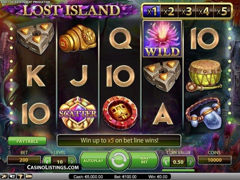 Lost Island Slot Gameplay (NetEnt)