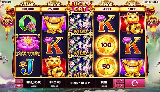 Lucky Cat Slot Bonus