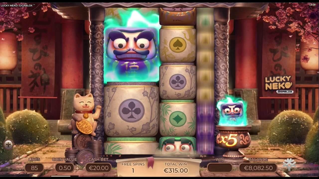 Lucky Neko Gigablox Slot Bonus
