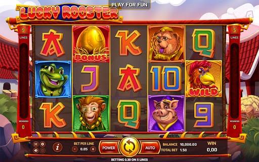 Lucky Rooster Slot Bonus