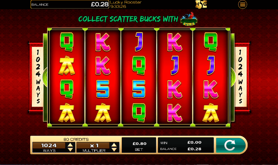 Lucky Rooster Slot Gameplay