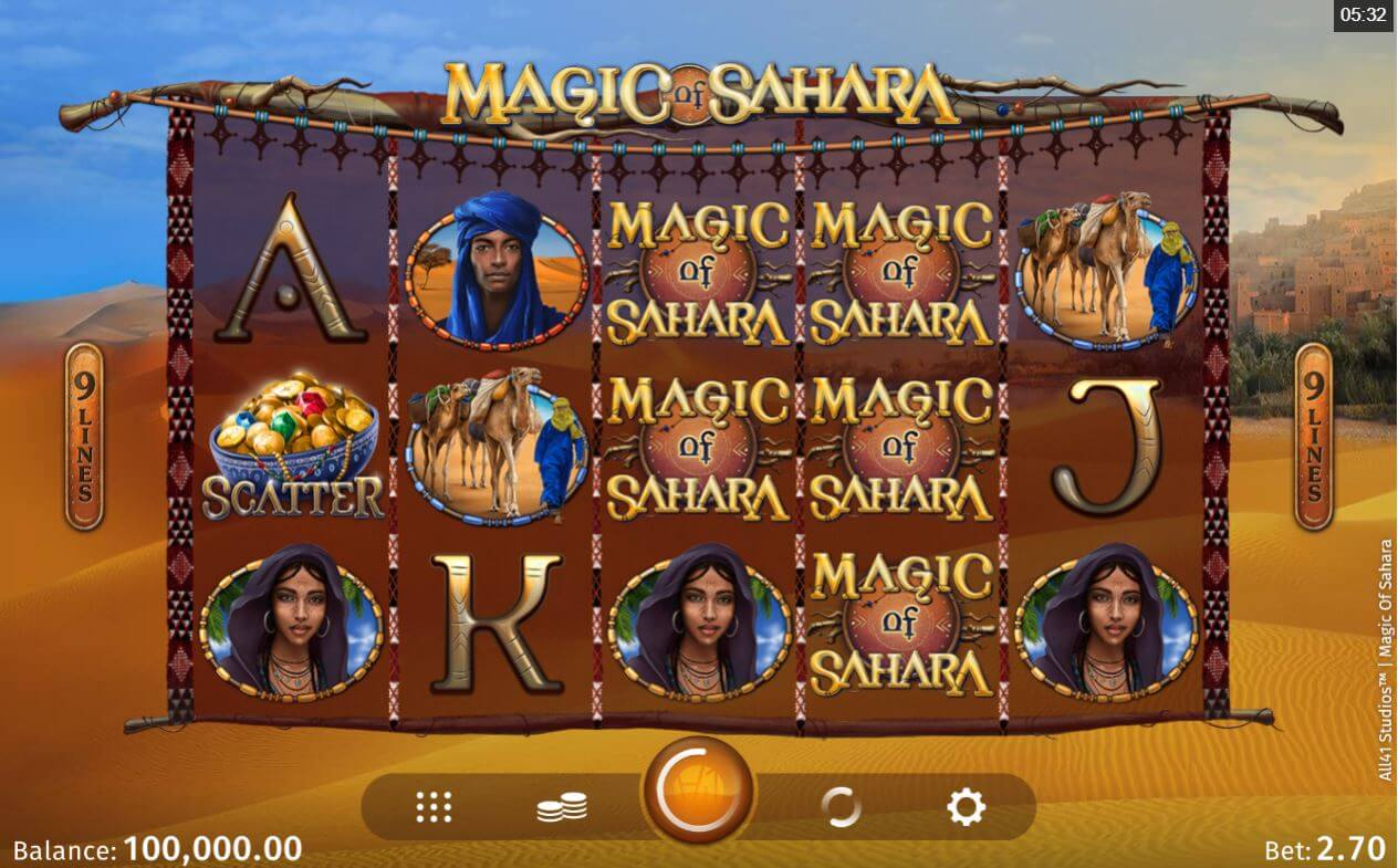 Magic of Sahara Slot Bonus