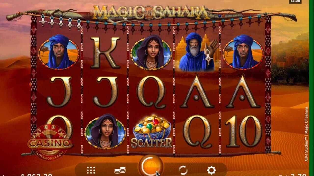 Magic of Sahara Slot Gameplay