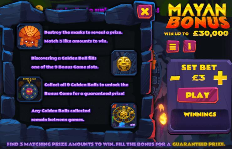 Mayan Bonus Slot Bonus