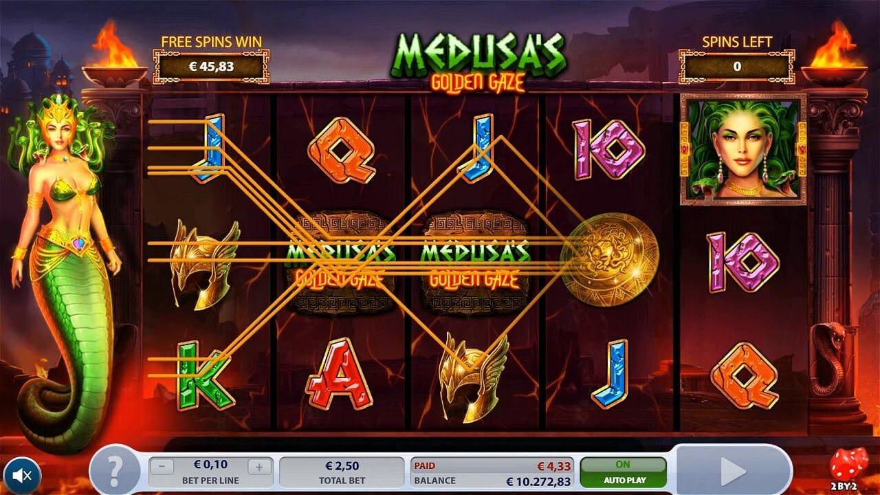 Medusa's Golden Gaze Slot Gameplay