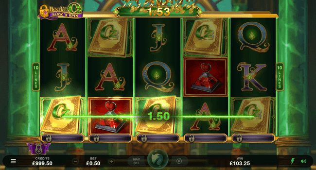 Book of Oz Lock 'N Spin gameplay slot
