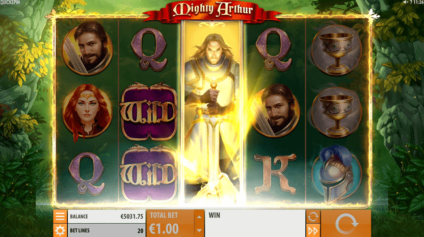 Mighty Arthur Slot Gameplay