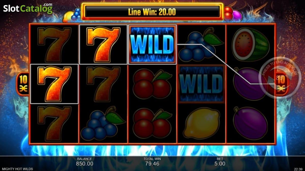 Mighty Hot Wilds Gameplay Bingo