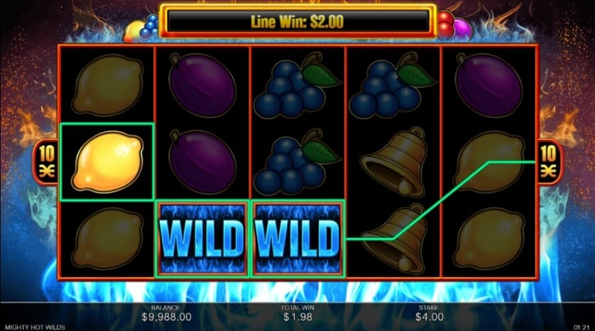 Mighty Hot Wilds Slot Gameplay