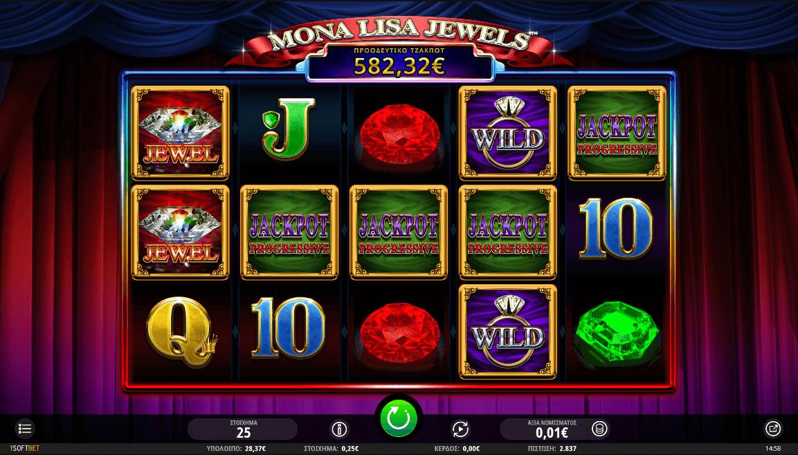 Mona Lisa Jewels Slot Gameplay