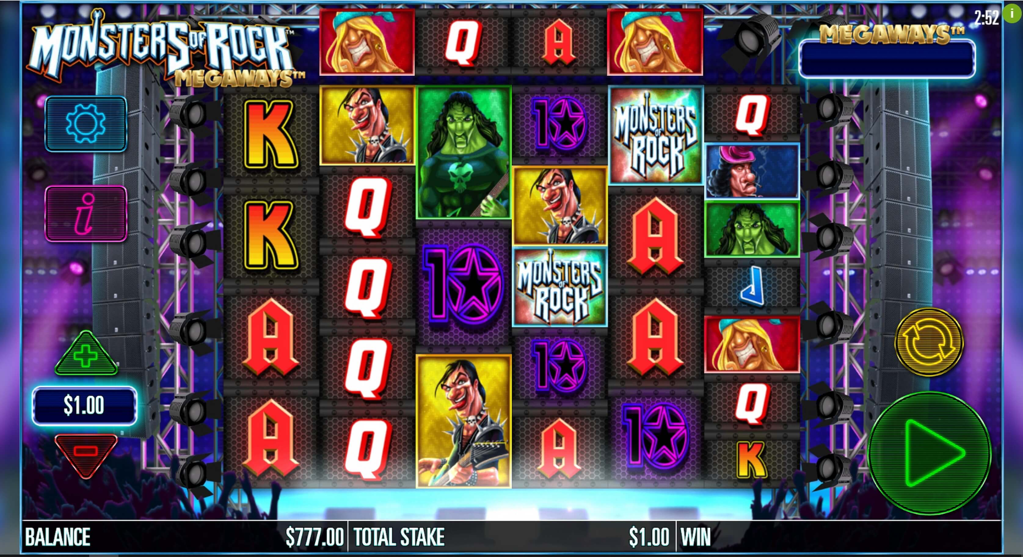 Monsters of Rock Megaways Slot Bonus