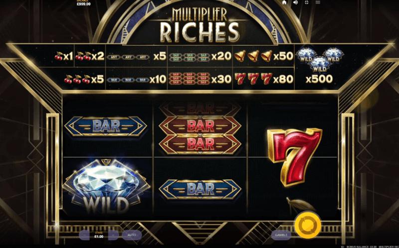 Multiplier Riches Slot Bonus