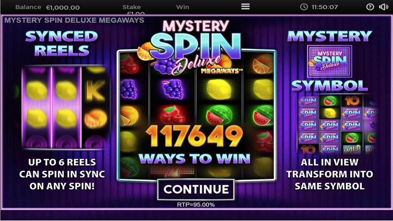 Mystery Spin Deluxe Megaways Slot Bonus