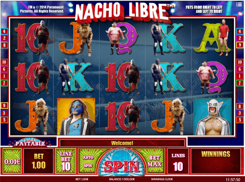 Nacho Libre Slot Gameplay