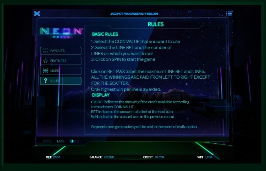 Neon Reels Slot Bonus