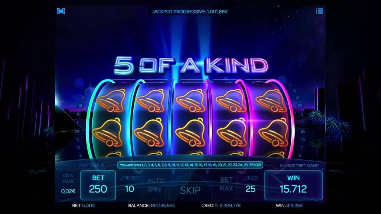 Neon Reels Slot Gameplay