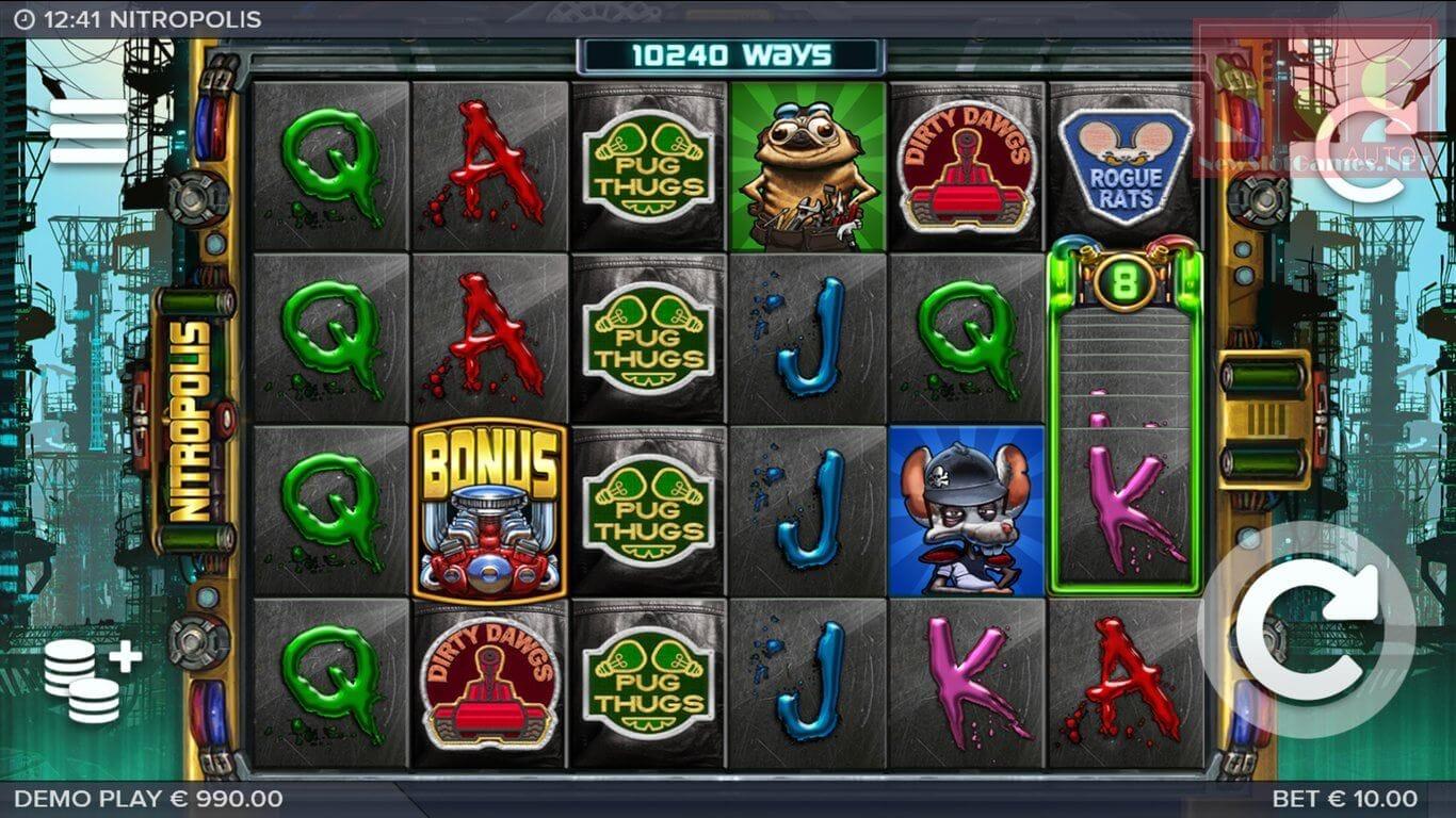 Nitropolis Slot Bonus