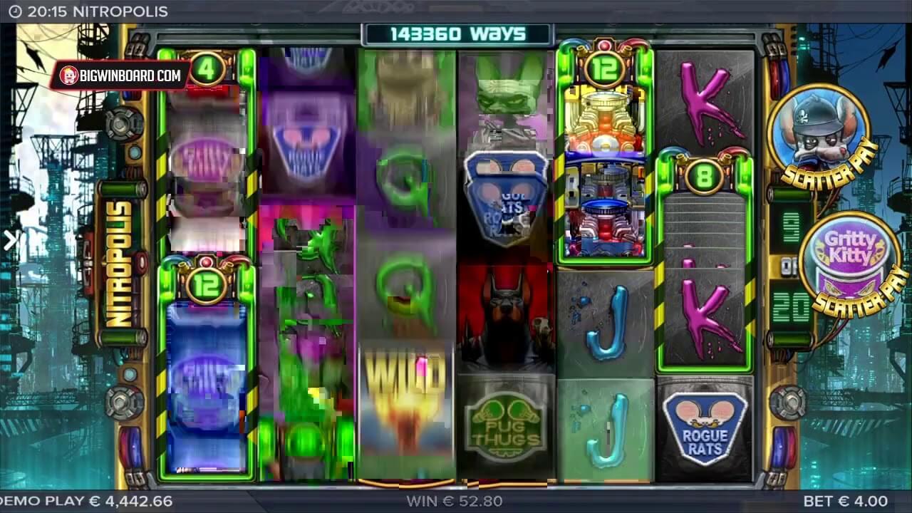 Nitropolis Slot Gameplay