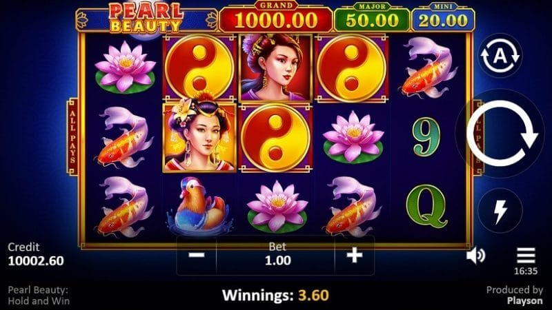 Pearl Beauty Hold and Win Slot Gameplay