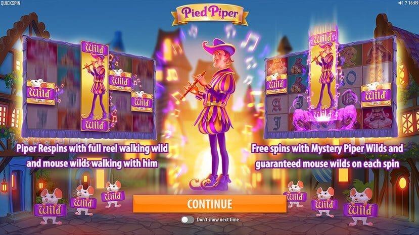 Pied Piper Slot Bonus