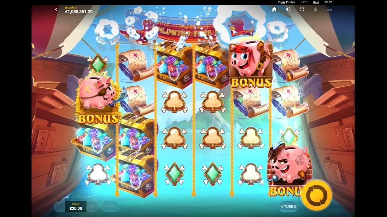 Piggy Pirates Slot Gameplay