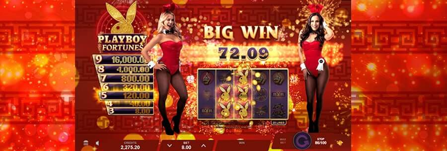 Playboy Fortunes Slot Gameplay