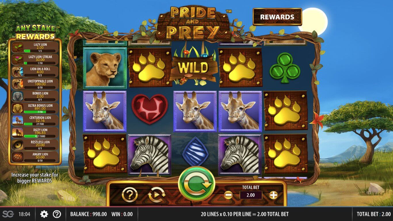 Pride and Prey Slot Gameplay