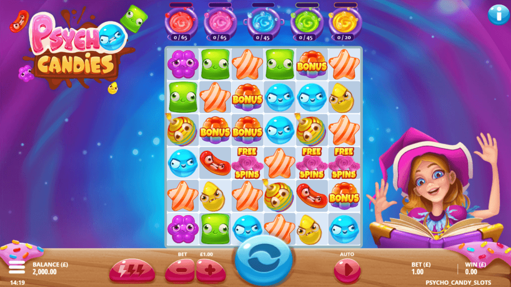 Psycho Candies Slot Gameplay