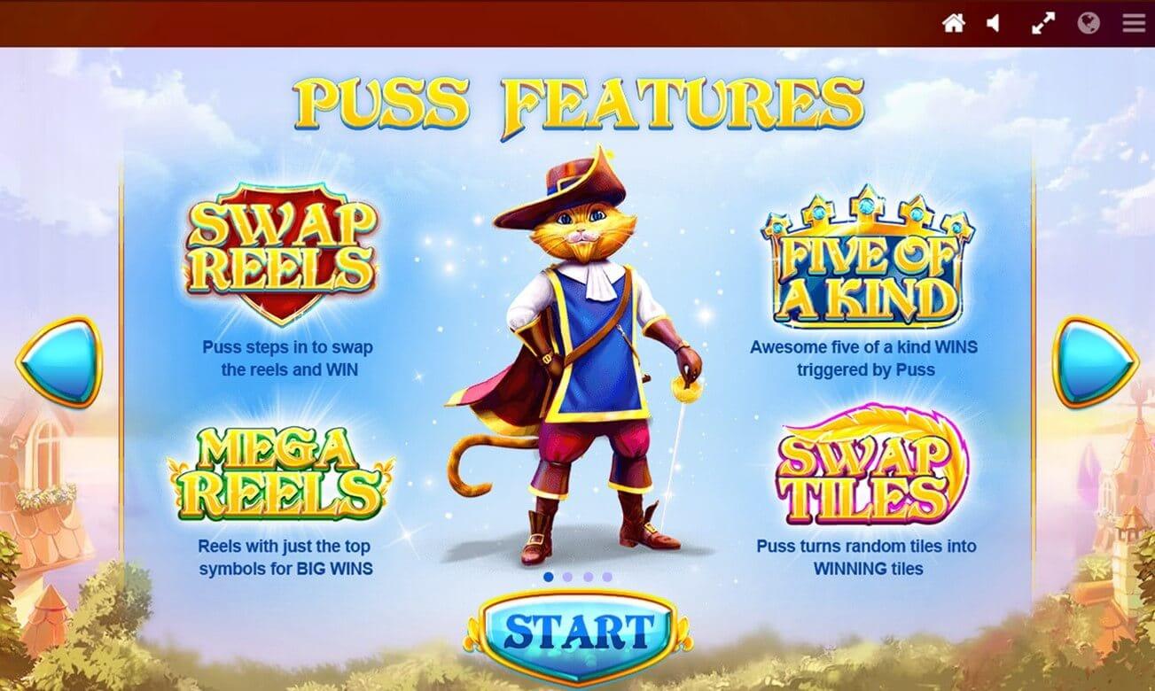 Puss n Boots Slot Bonus