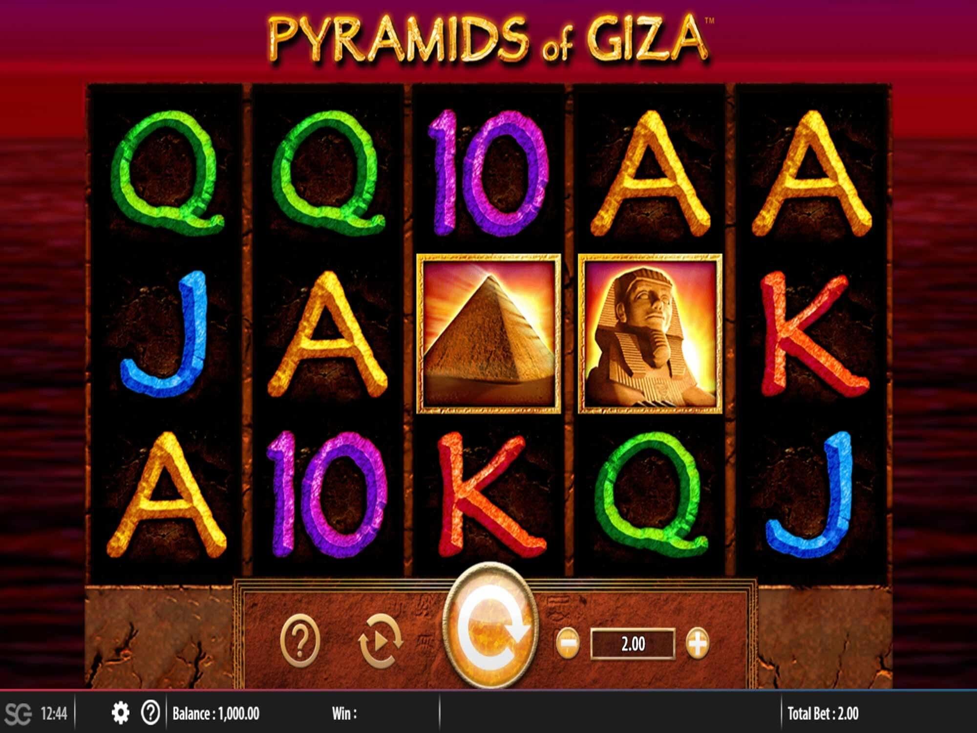 Pyramids of Giza Slot Bonus