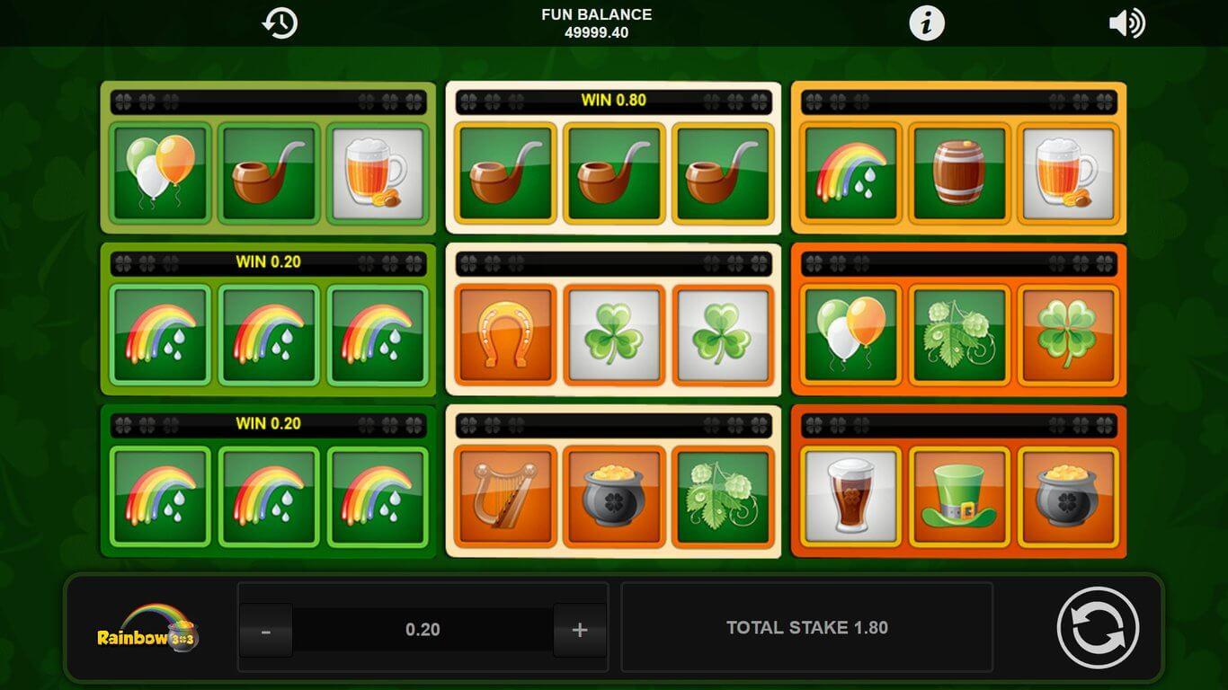 Rainbow 3x3 Slot Gameplay