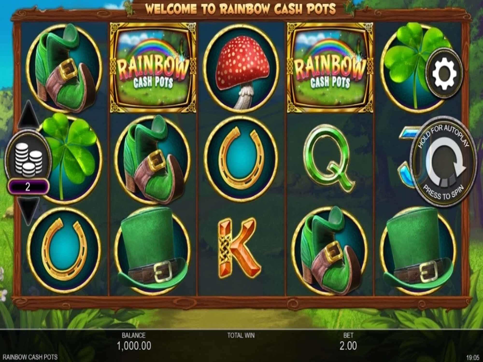 Rainbow Cash Pots Slot Gameplay