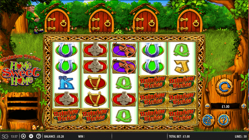 Rainbow Riches Home Sweet Home Slot Gameplay