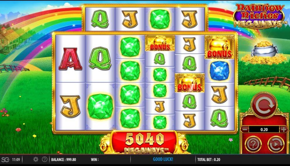 Rainbow Riches Megaways Slot Bonus