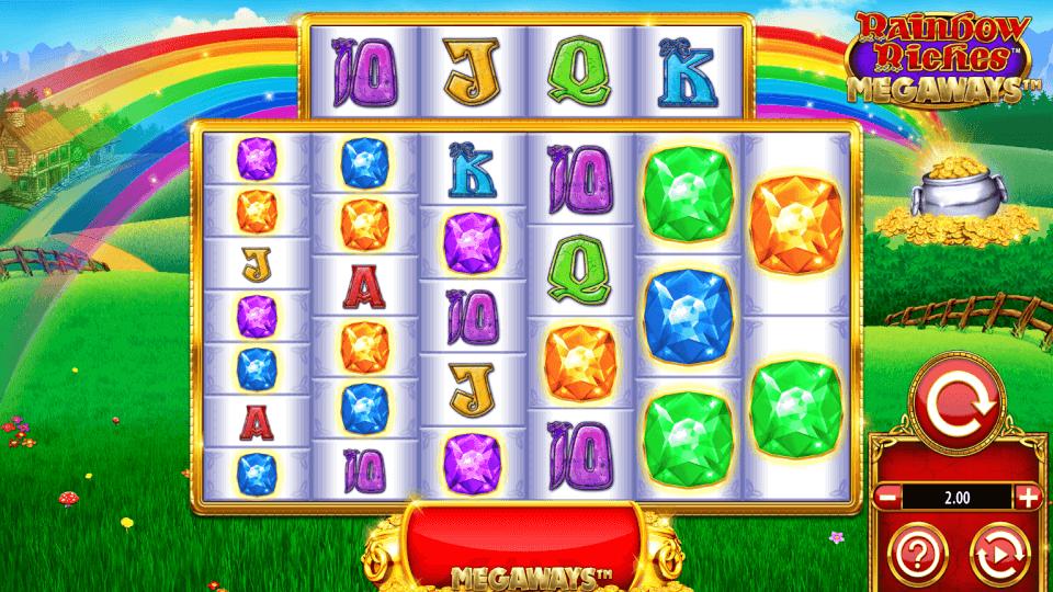 Rainbow Riches Megaways Slot Gameplay