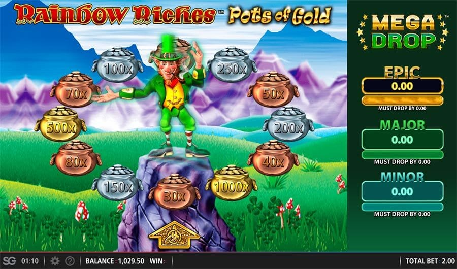 Rainbow Riches Pots of Gold Slot Bonus