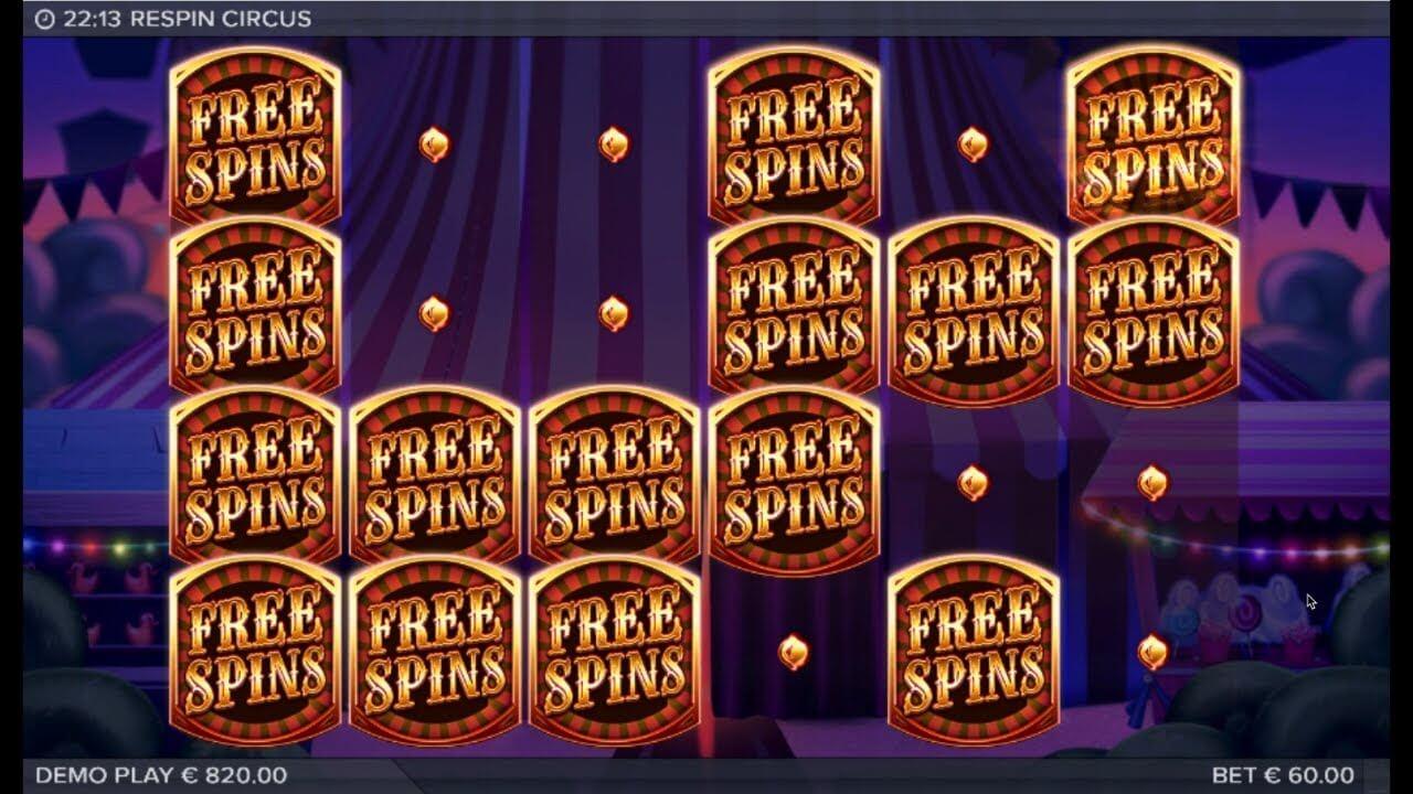 Respin Circus Slot Bonus