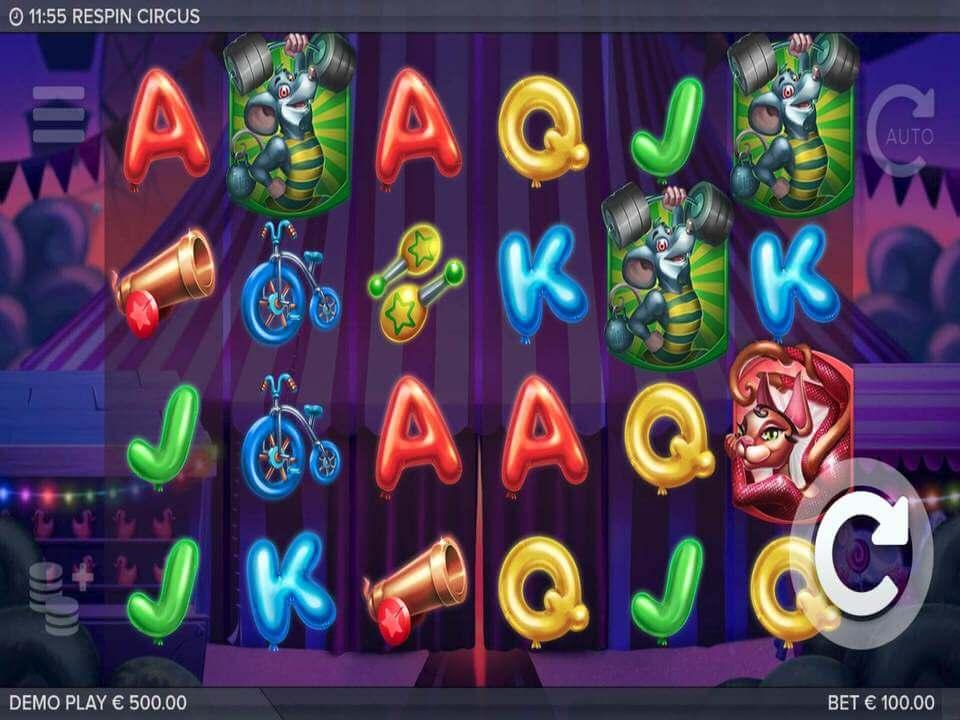 Respin Circus Slot Gameplay