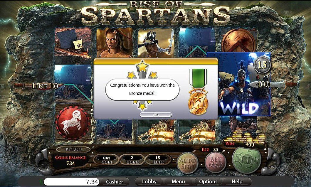 Rise Of Spartans Slot Gameplay