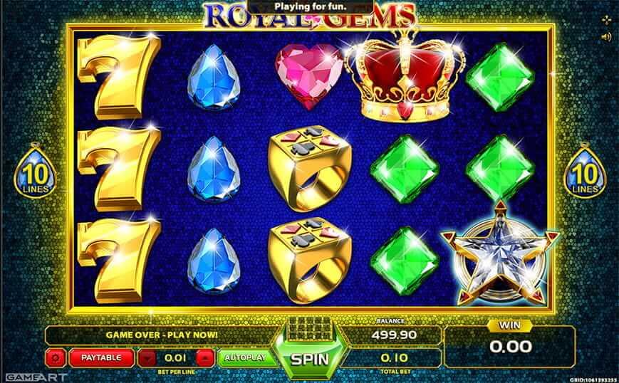 Royal Gems Slot Gameplay