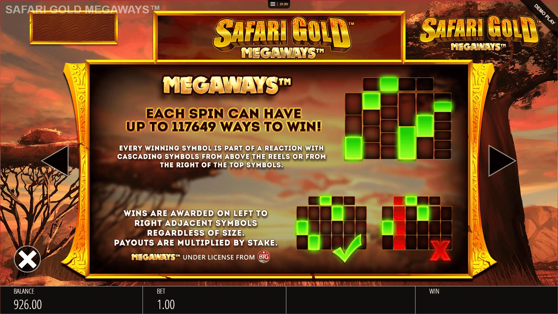 Safari Gold Megaways Slot Gameplay