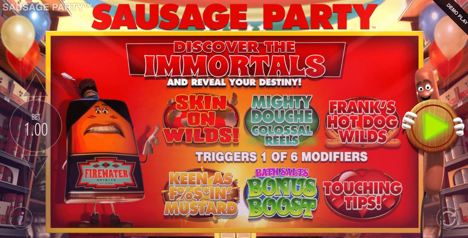 Sausage Party Slot Bonus